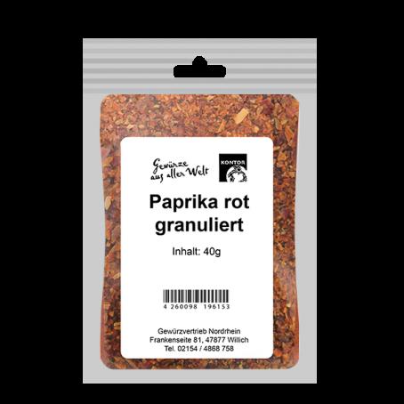 Paprika rot granuliert
